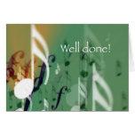 Notas verdes, hechas bien felicitacion