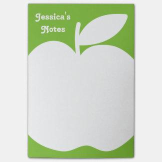 Notas verdes personalizadas del Poste-it® Post-it® Notas