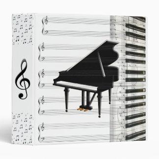 """Notas y personal de la música del teclado de piano carpeta 1 1/2"""""""
