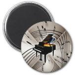 Notas y personal del piano imán para frigorífico