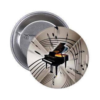 Notas y personal del piano pin redondo 5 cm
