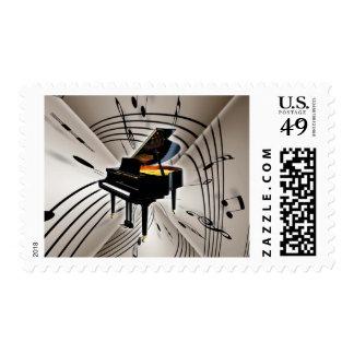 Notas y personal del piano sellos