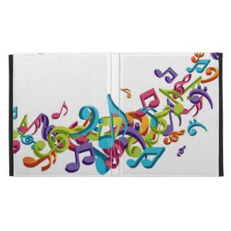 Notas y sonidos coloridos frescos de la música