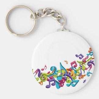 notas y sonidos coloridos frescos de la música llaveros personalizados