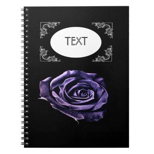 Notbooks color de rosa púrpuras libretas