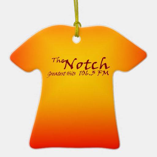 Notch 106.3 FM Tie Dye Ornament