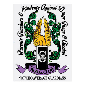 Not'Cho Average Guardians Crest Postcard