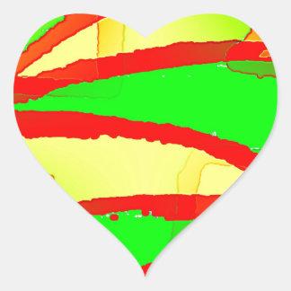 Note Bolt G Heart Sticker
