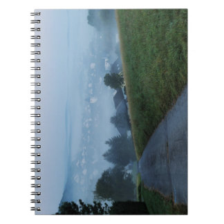 Note book autumn mornings in the winner country