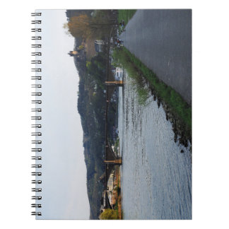 Note book Cochem Moselle bank in the evening