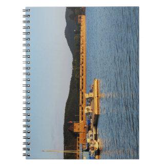 Note book Edersee concrete dam in the evening