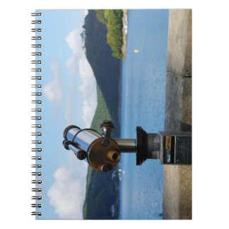 Note book Edersee with closed forest-hits a corner
