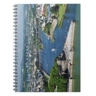 Note book German hit a corner in Koblenz