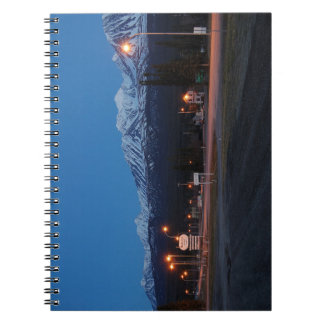 Note book Haines Junction blue hour