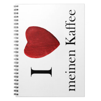 Note book I loves means coffee