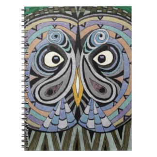 Note book owl spiral block