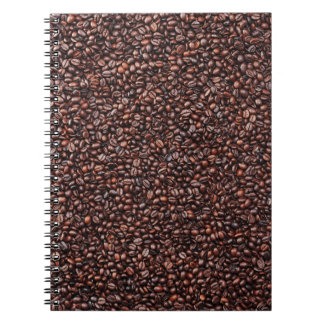 Note book with coffee beans motive