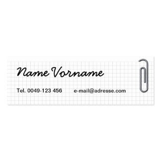Note Double-Sided Mini Business Cards (Pack Of 20)