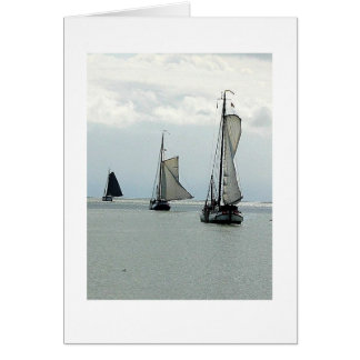Note Card 3 Dutch Sailboats