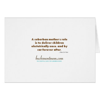 Note Card A Suburban Mother s Role