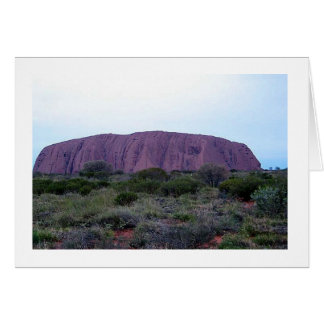 Note Card Ayers Rock at Sunset