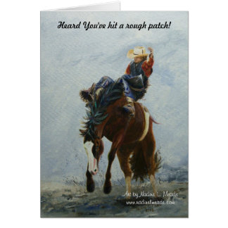 Note Card, BroncBuster, Still Hangin' On! Get well Card