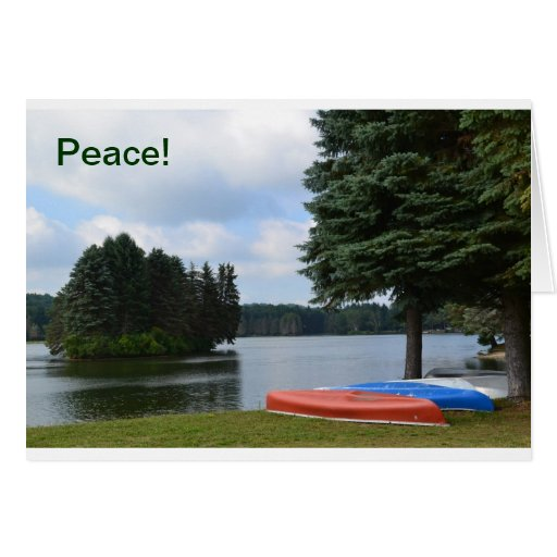 Note card Canoes