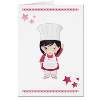 Note Card Chef Woman