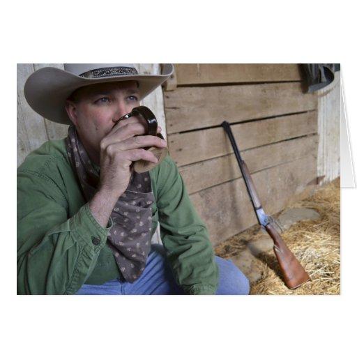 Note Card / Cowboy Pondering