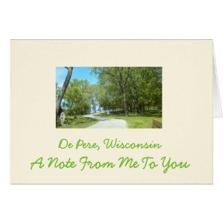 NOTE CARD De Pere Wi