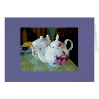 note card - English teapots