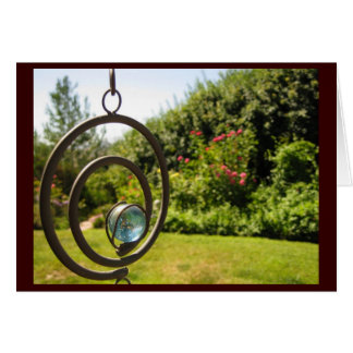 note card - garden ornament