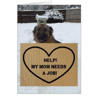 Note Card German Shepherd Help My Mom Needs A Job