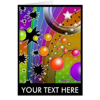 Note Card, Greeting Card - BIG BANG BLACK HOLES PO