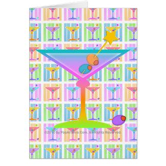 Note Card, Greeting Card - Retro Pop Art Martinis