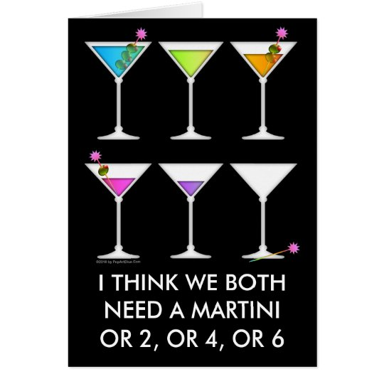 Note Card - Martinis Going, Going, GONE