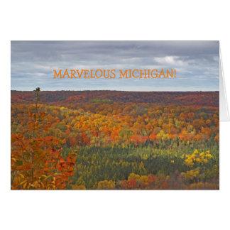 "NOTE CARD/""MARVELOUS MICHIGAN""/DEADMAN'S OVERLOOK CARD"