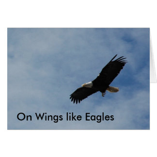 """Note Card - """"On Wings like Eagles"""""""
