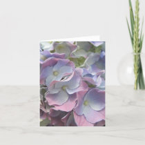 Note Card - Pastel Rainbow Hydrangea