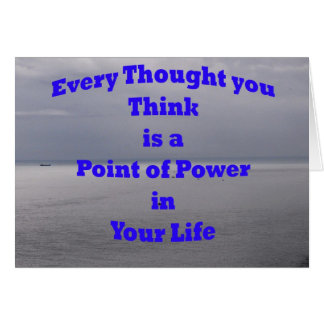 Note Card: Positive Thoughts Stationery Note Card