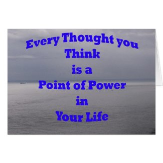 Note Card: Positive Thoughts