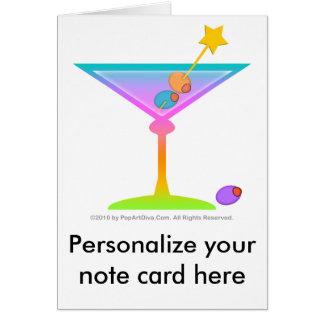Note Card - RAINBOW MARTINI