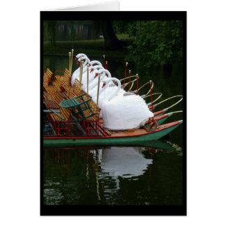 note card - Swan boats