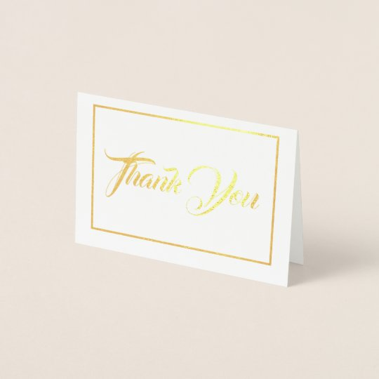 Note Card Thank You Mini Size Foil