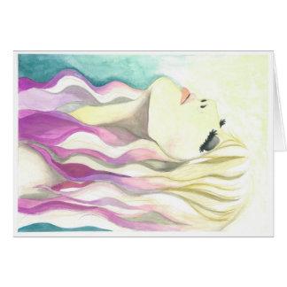"Note Card - ""Thankful"" Crystal Cross Watercolors"