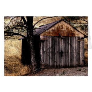 Note card w/digital painting of Pioche shed