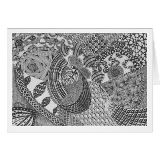 Note Card with Zentangle Art