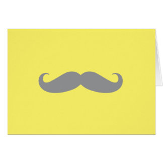 Note Card - Yellow with Gray Mustache