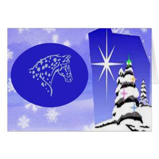 NOTE CARDS-BLUE CHRISTMAS APPALOOSA