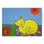 Note Cards - Red box Cats - original art